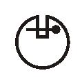 przekrój lamówki atłasowej dwustronnie zaprasowanej 8 mm
